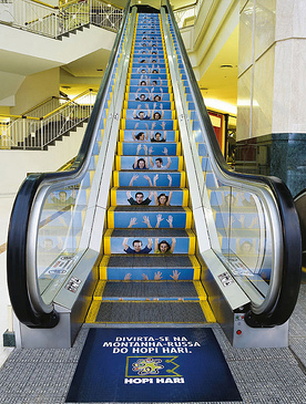 The guerrilla marketing escalator example