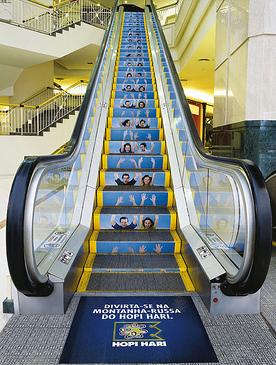 The guerrilla marketing escalator example