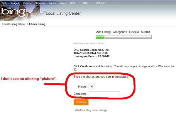 Bing Local Center Is Broken