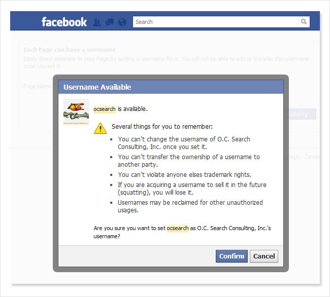 confirm your Facebook name