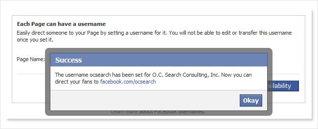 facebook name success
